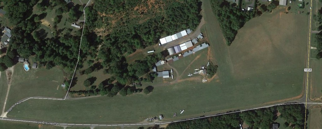 Aerial view of our skydiving facility